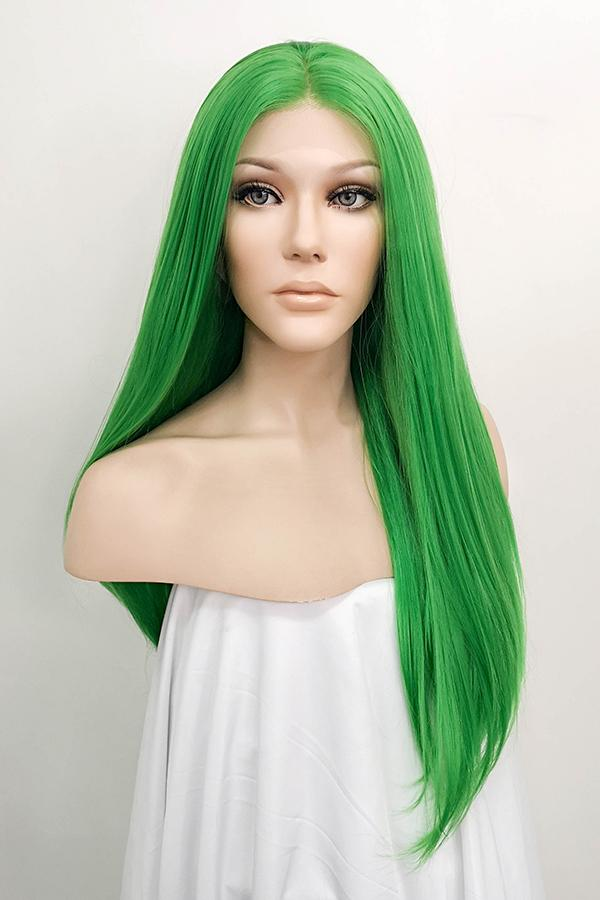 "24"" Green Lace Front Synthetic Hair Wig 20023 - StarLite Hair"