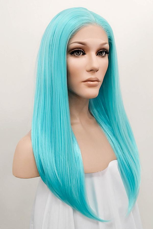 "24"" Light Blue Lace Front Synthetic Hair Wig 20250 - StarLite Hair"