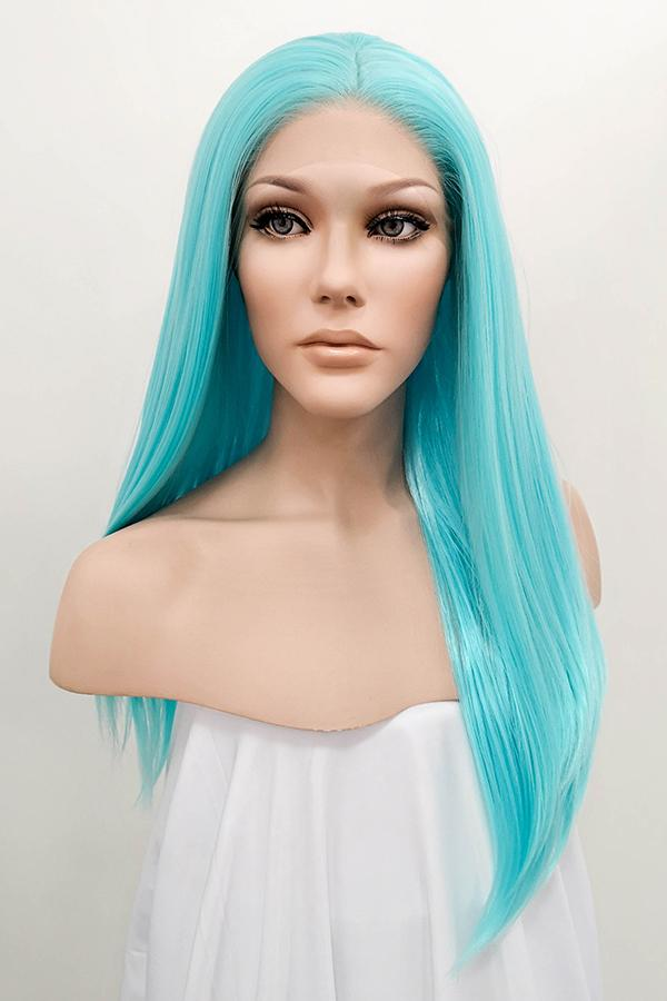 "24"" Light Blue Lace Front Synthetic Hair Wig 20250"