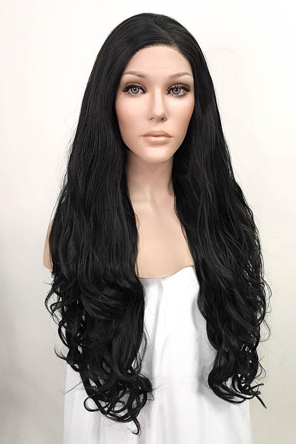 "26"" Natural Black Lace Front Synthetic Wig 20029 Inspired by Kim Kardashian"