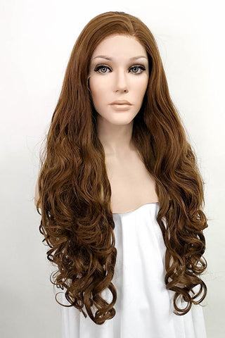 "24"" Dark Brown Fashion Synthetic Hair Wig 50102"