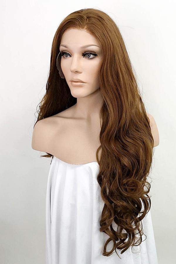 "26"" Brown Lace Front Synthetic Hair Wig 20033 - StarLite Hair"