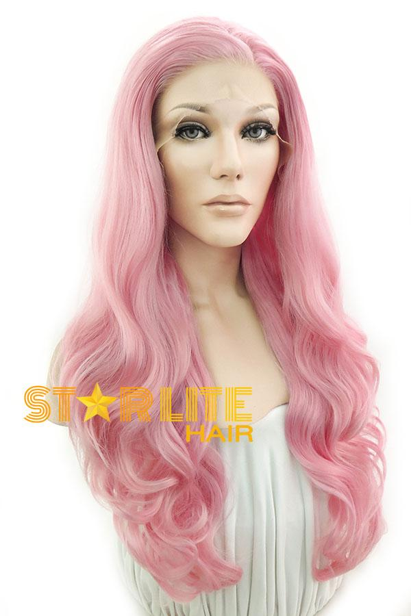 "26"" Pink Lace Front Synthetic Hair Wig 20200 - StarLite Hair"