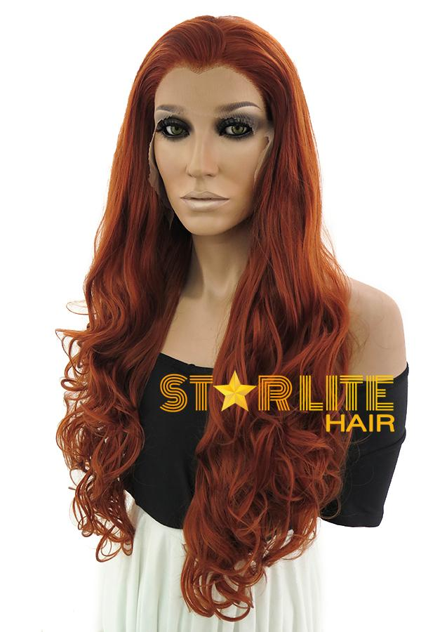 "28"" Auburn Lace Front Synthetic Wig 10266 - StarLite Hair"