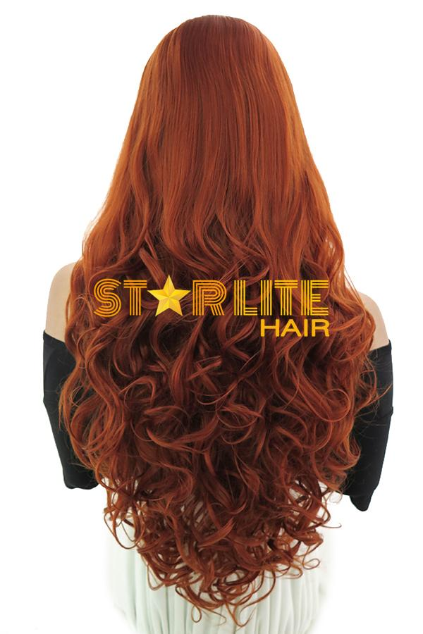 "28"" Reddish Brown Lace Front Synthetic Wig 10266 - StarLite Hair"