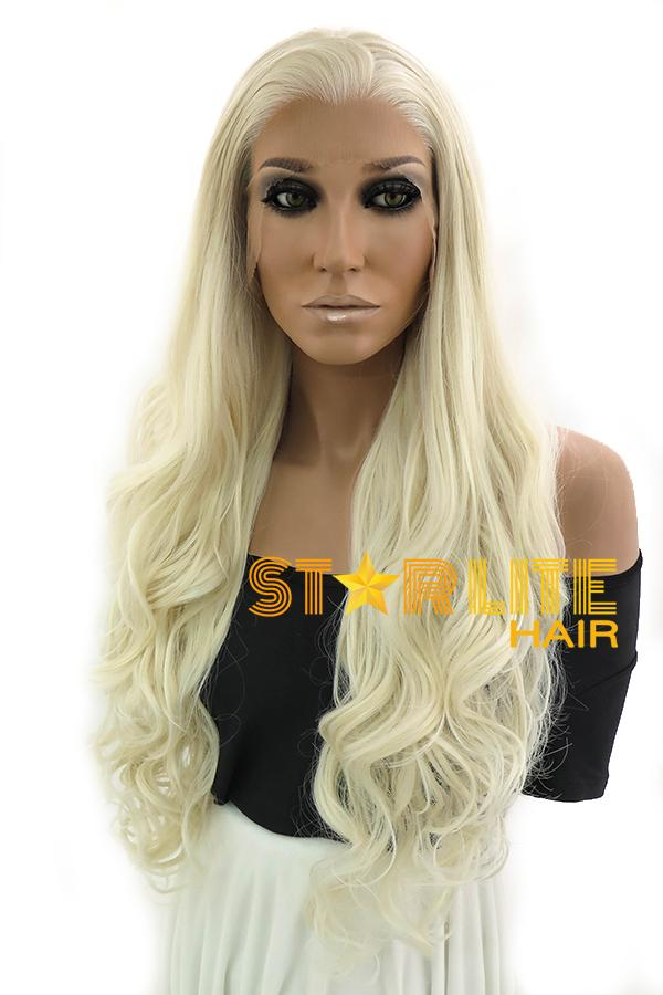 "28"" Light Blonde Lace Front Synthetic Wig 10263 - StarLite Hair"