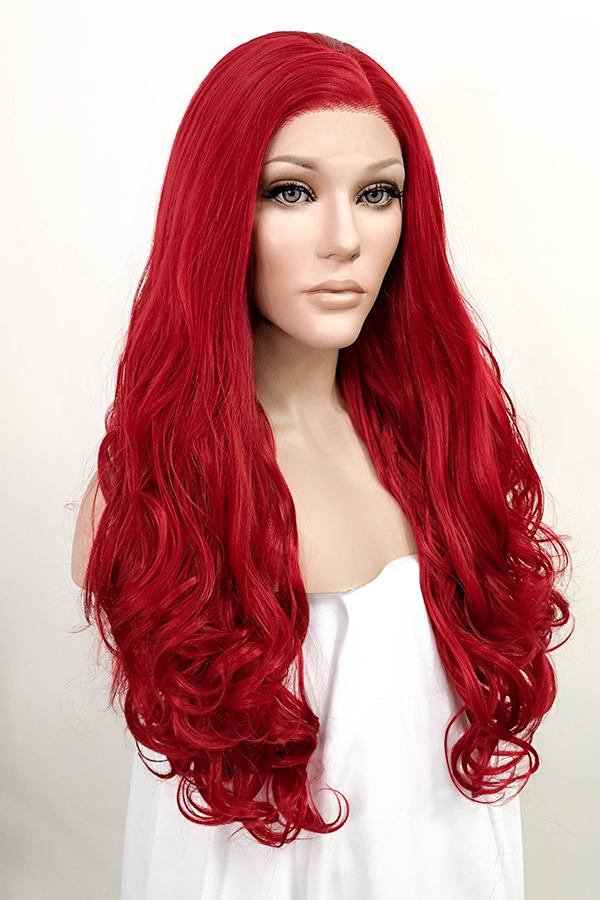 "26"" Red Lace Front Synthetic Hair Wig 20041"