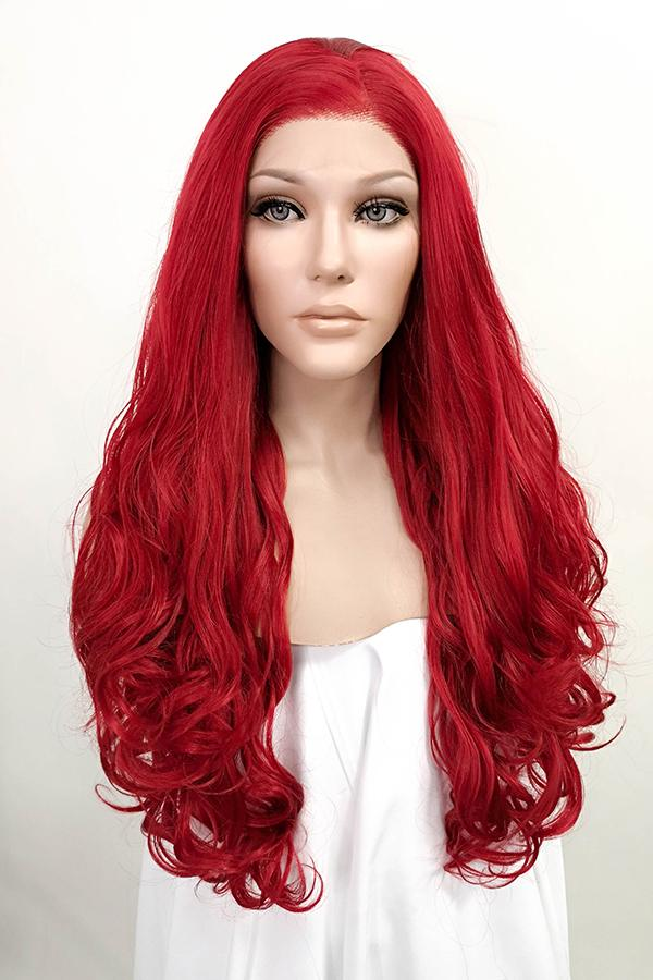 "26"" Red Lace Front Synthetic Hair Wig 20041 - StarLite Hair"