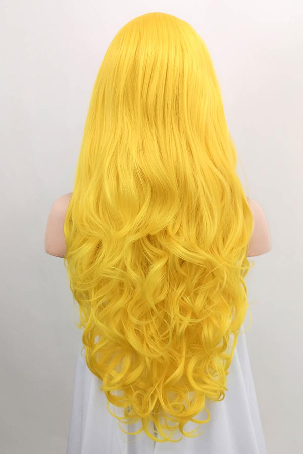 "26"" Golden Yellow Lace Front Synthetic Wig 20331 - StarLite Hair"
