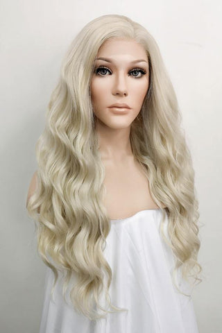 "26"" Mixed Brown Lace Front Synthetic Wig 20147"