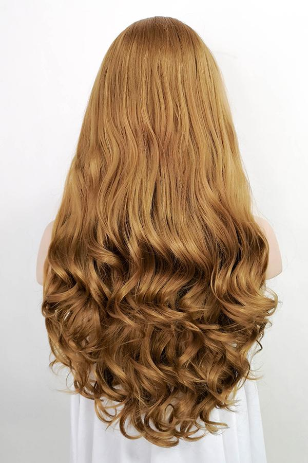 "24"" Golden Brown Lace Front Synthetic Wig 20061"
