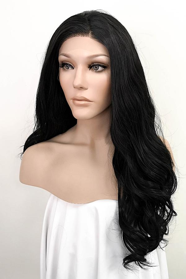 "24"" Jet Black Lace Front Synthetic Hair Wig 20062 - StarLite Hair"