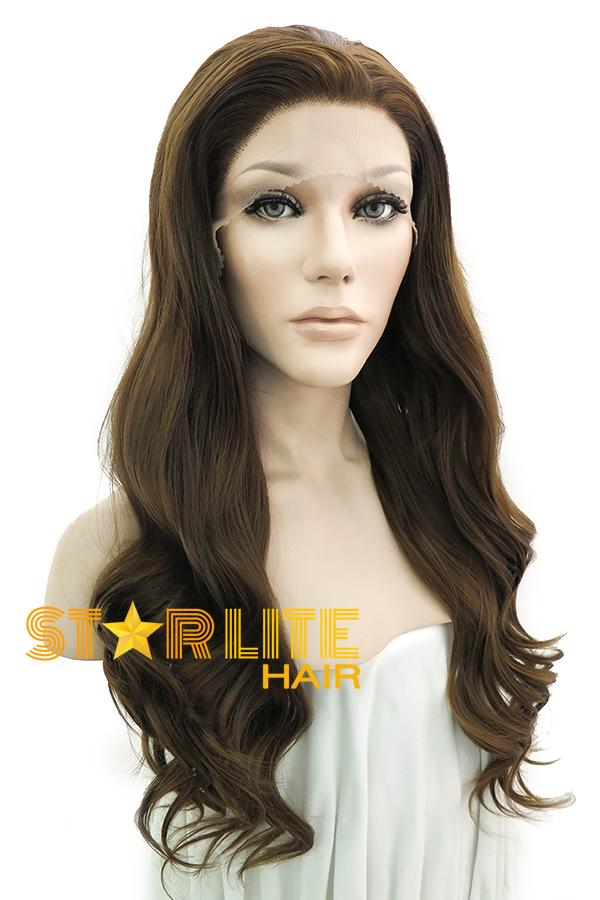 "24"" Brunette Lace Front Synthetic Wig 20065 - StarLite Hair"