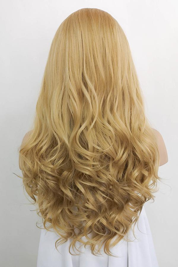 "24"" Golden Blonde Lace Front Synthetic Wig 20071 - StarLite Hair"