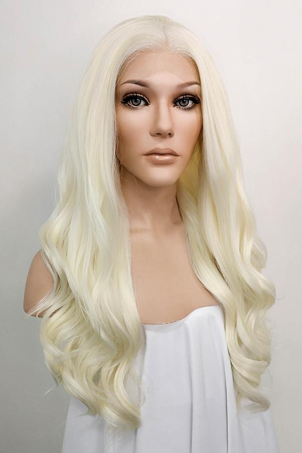 "24"" Light Blonde Lace Front Synthetic Wig 20072 - StarLite Hair"