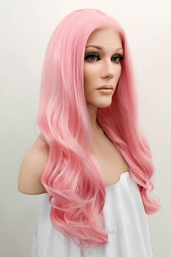 "24"" Pink Lace Front Synthetic Hair Wig 20229 - StarLite Hair"