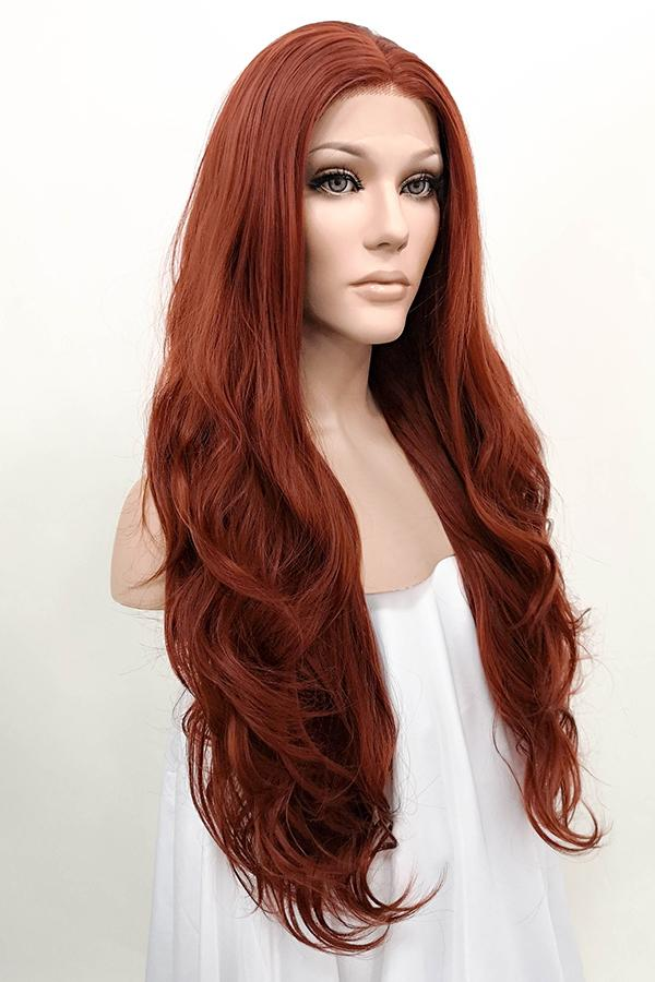 "26"" Auburn Lace Front Synthetic Wig 20083 - StarLite Hair"
