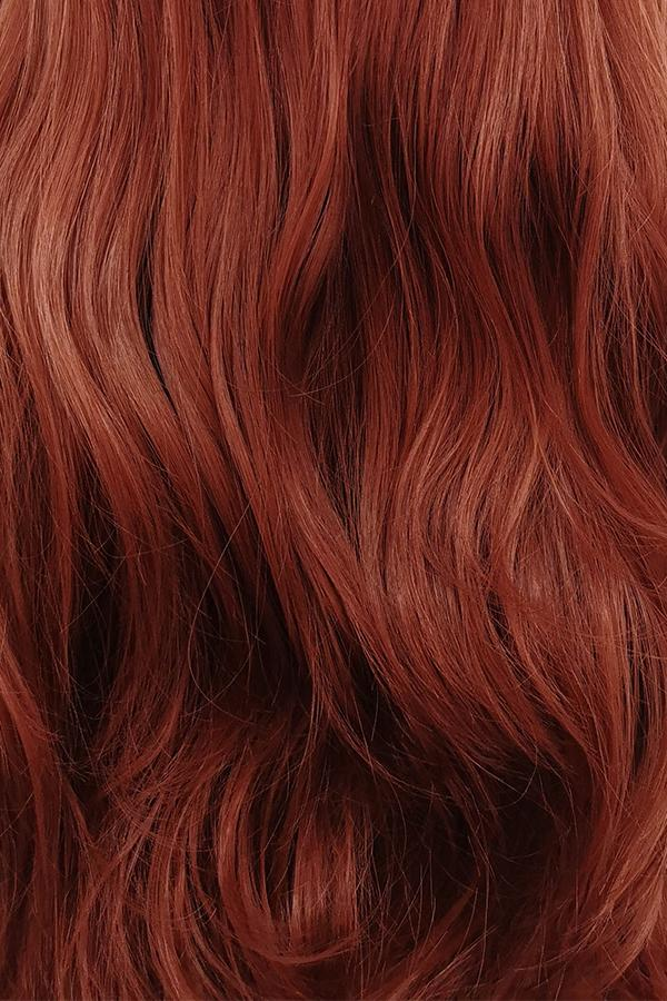 "26"" Reddish Brown Lace Front Synthetic Wig 20083"