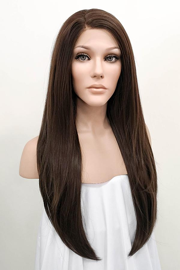 "24"" Brunette Lace Front Synthetic Wig 20085"