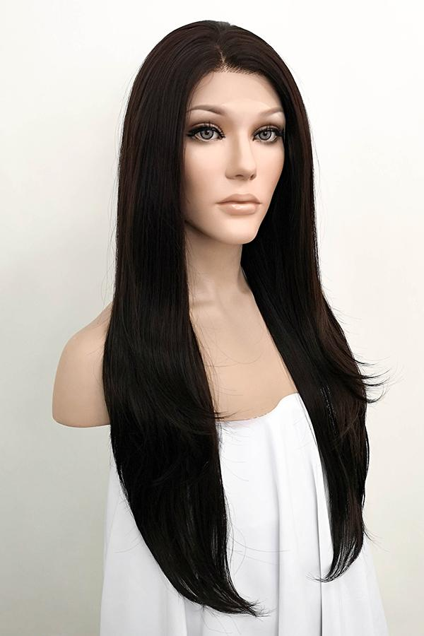 "24"" Mixed Brunette Lace Front Wig 20222"