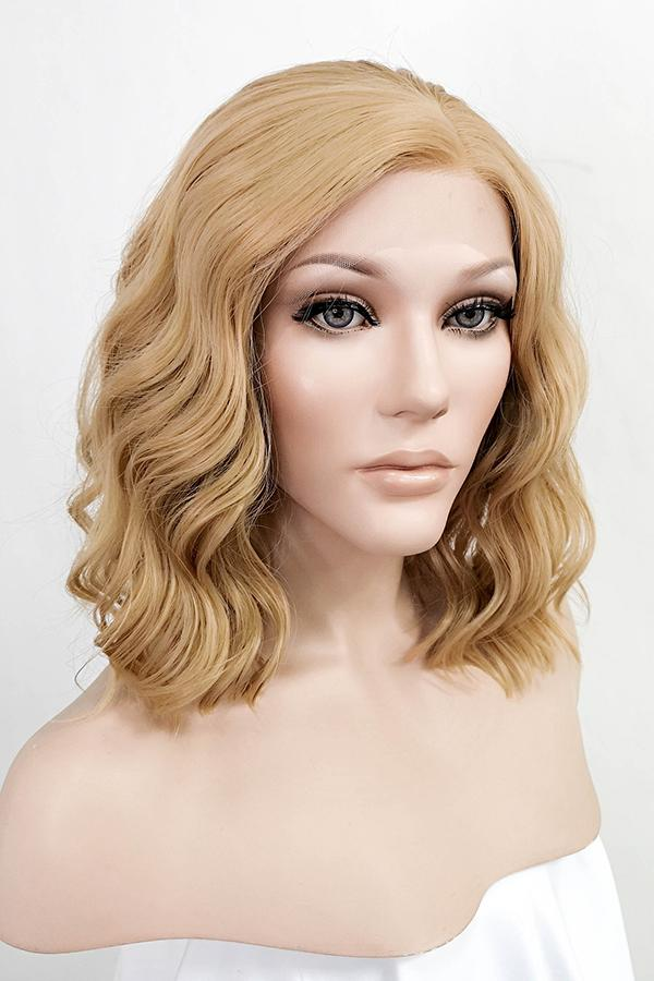 "14"" Dark Flaxen Lace Front Synthetic Wig 10180"