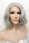 "12"" Light Ash Blonde Lace Front Hair Wig 10181"