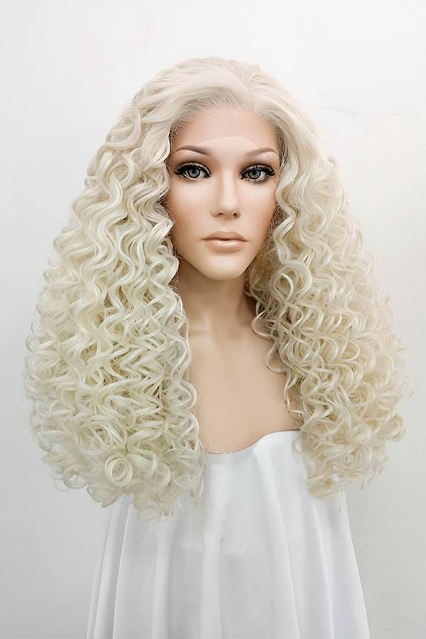 "26"" Light Blonde Lace Front Synthetic Hair Wig 10194"
