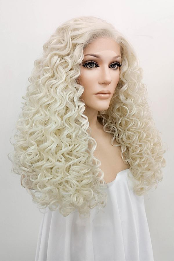 "26"" Light Blonde Lace Front Synthetic Hair Wig 10194 - StarLite Hair"