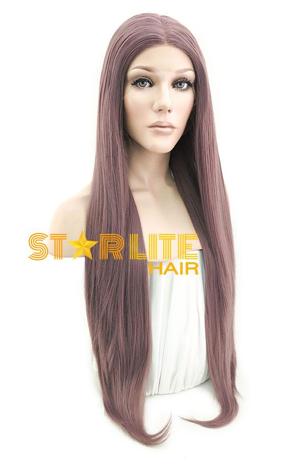 "28"" Ash Purple Lace Front Synthetic Wig 10216 - StarLite Hair"
