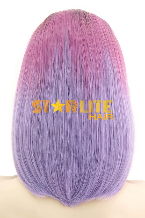 "14"" Pink Purple with Dark Roots Lace Front Wig 10218 - StarLite Hair"