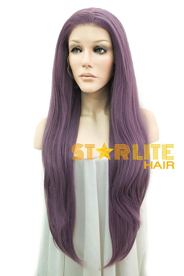 "24"" Ash Purple Lace Front Synthetic Wig 10229 - StarLite Hair"
