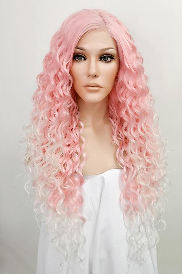 "26"" Pink Blonde Ombre Lace Front Synthetic Wig 20296 - StarLite Hair"