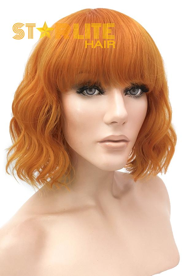 "10"" Orange Lace Front Synthetic Wig 40026 - StarLite Hair"