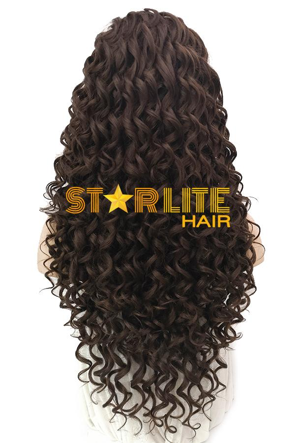 "24"" Mixed Brunette Lace Front Synthetic Wig 20089 - StarLite Hair"