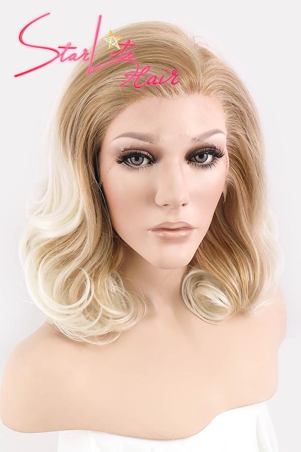 "16"" Mixed Blonde Ombre Lace Front Synthetic Wig 20103"