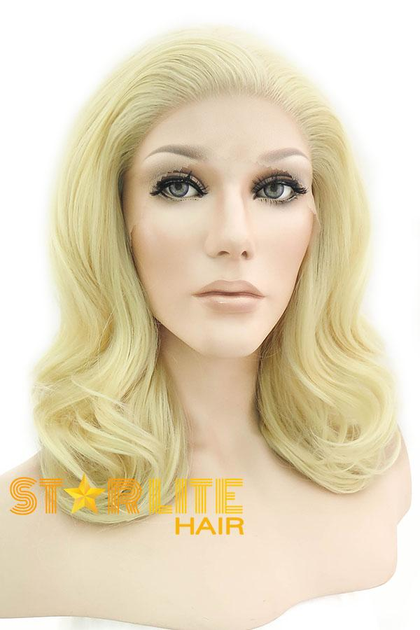 "16"" Golden Blonde Lace Front Synthetic Wig 20107 - StarLite Hair"