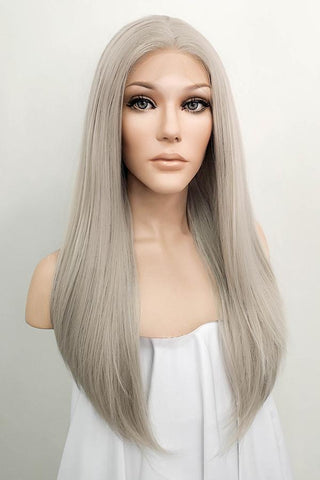 "28"" Mixed Light Green Lace Front Hair Wig 10165"