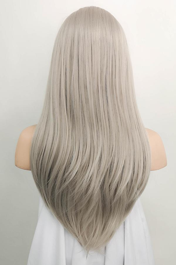 "24"" Grey Blonde Lace Front Synthetic Wig 20115 - StarLite Hair"