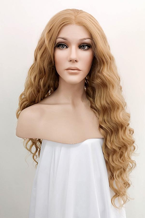 "26"" Golden Blonde Lace Front Synthetic Wig 20117 - StarLite Hair"