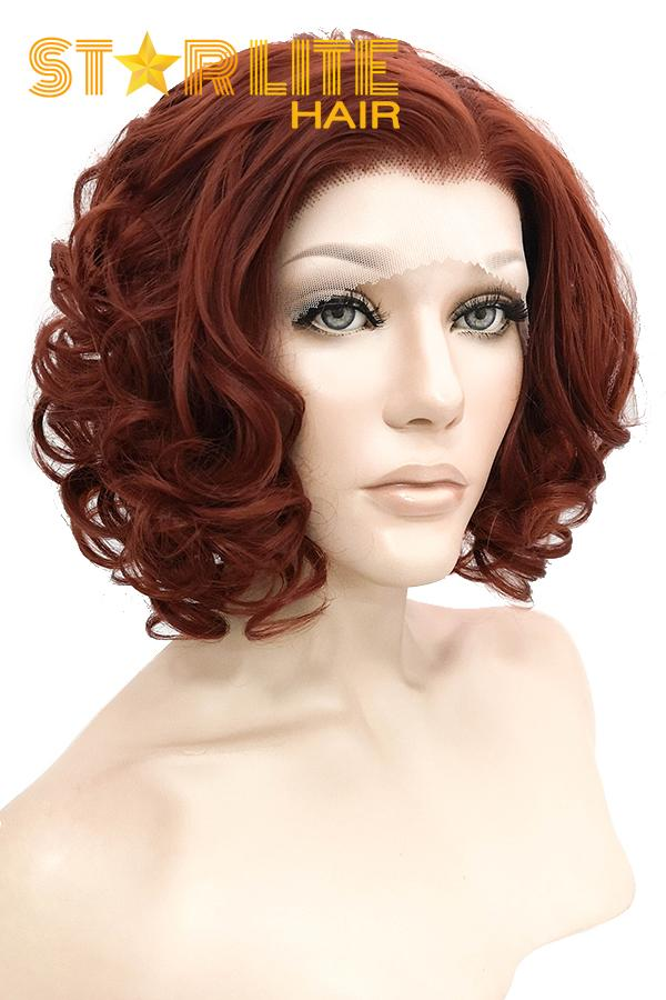 "10"" Auburn Lace Front Synthetic Wig 20124 - StarLite Hair"