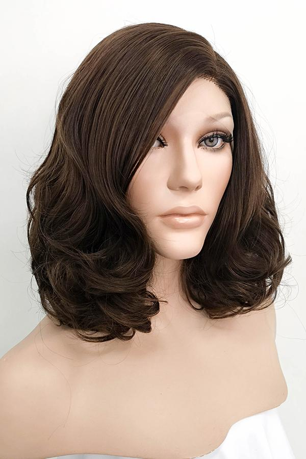 "16"" Brunette Lace Front Synthetic Hair Wig 20127"