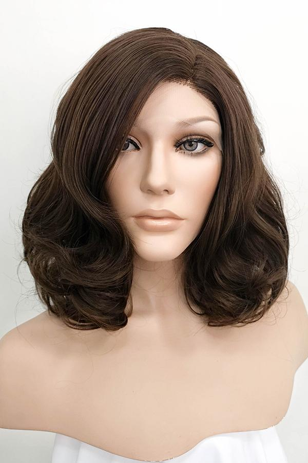 "16"" Brown Lace Front Synthetic Hair Wig 20127 - StarLite Hair"
