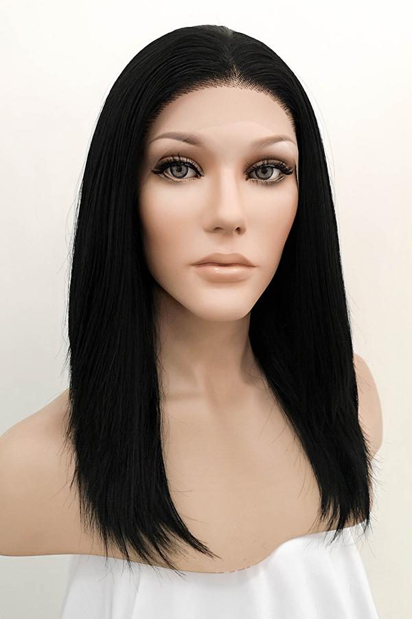 "16"" Jet Black Lace Front Synthetic Hair Wig 20130 - StarLite Hair"