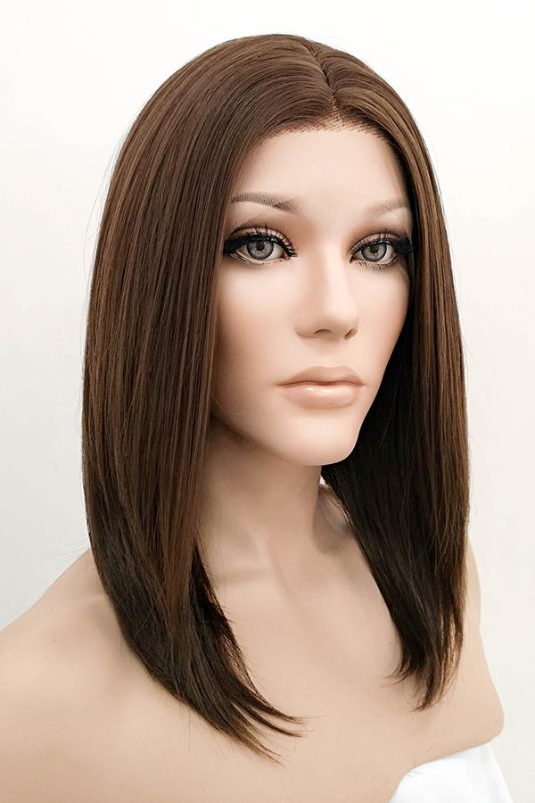 "16"" Mixed Brunette Lace Front Synthetic Wig 20235"