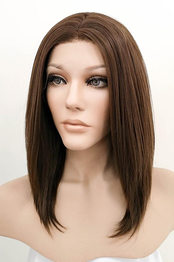 "14"" Two Tone Dark Brown Lace Front Synthetic Wig 20235"