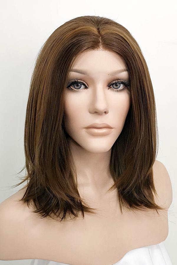 "14"" Mixed Brown Lace Front Synthetic Wig 20132"