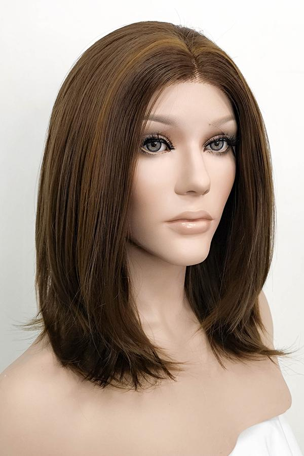 "14"" Mixed Brown Lace Front Synthetic Wig 20132 - StarLite Hair"