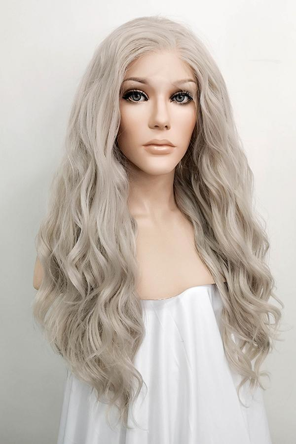 "24"" Mixed Grey Lace Front Synthetic Wig 20140 - StarLite Hair"