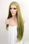 "26"" Grass Green Lace Front Synthetic Wig 10286"