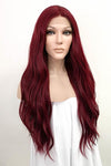 "26"" Dark Burgundy Lace Front Synthetic Hair Wig 10293"